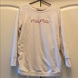 "Isabel maternity ""mama"" sweatshirt cream"